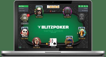 play poker online on desktop - blitz poker