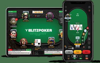 play poker online on mobile - blitz poker